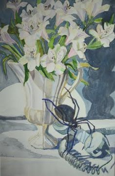 "Margaret Montgomery. ""Close Calls: 10 Floral Paintings"" Solo exhibition at Berlitz Language Center/Rockefeller Center, August 4-29, 2014."
