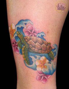 rachel gilbert, tattoo, sea turtle