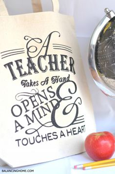 turned our fun teacher appreciation printable into this adorable teacher tote!
