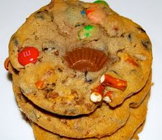 Trash Cookies trash cooki, monster mama, candi, halloween candy, kitchen sinks, cookies, monster cooki, cookie recipes, potato chips