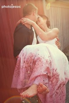 Stomping in wine getting the bottom of the dress stained...love this idea!-Trash the Dress Wine dress wine, the dress