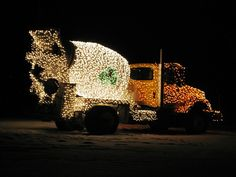Deck The Cement Trucks With 25,000 Christmas Lights
