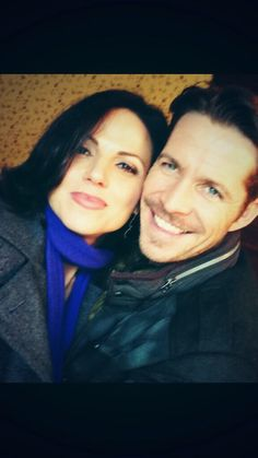 """Lana Parrilla Twitter Pic // Look who I found on set!!! @sean_m_maguire #OnceUponATime #OutlawQueen #EvilRegals"""""""
