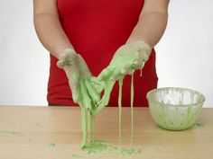 How to Make Homemade Slime: You can alter the consistency of slime by changing the ratio of ingredients.