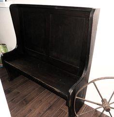 Antique Deacon's Bench  http://www.etsy.com/listing/83039957/antique-deacons-bench