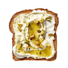 Ricotta-Pistachio Toast from CookingLight.com