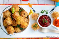 Healthy baked pasta-crusted chicken nuggets