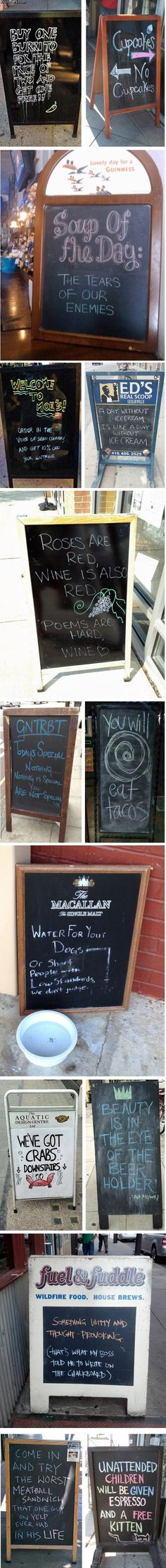 The best chalkboard signs ever