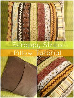 Scrap Fabric Strip Pillow Tutorial | patchwork posse #scrapfabric #fabricstrips
