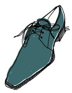Alanna Cavanagh: Illustration #menswear #shoes #blue