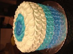 Umbre cake I did for a friends baby shower. www.bakedgoodies.com