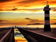 Santos on the beach _ sunset <3