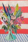 Artwork by Lulie Wallace - featured in House of Fifty (Image of 24x36 Flowers for Milner)