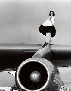model Deborah Dixon, broadtail poncho by SWA: model Deborah Dixon, by F.C. Gundlach