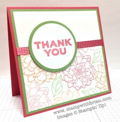 Peaceful Petals, Simply Celebrate, Stampin' Up!, Brian King, PP185