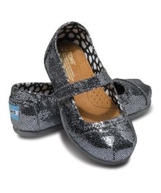 Pewter Glitter Mary Jane - Tiny Toms