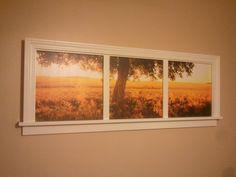 decor, craft, fake window, frame pictur, frame idea, picture frames, diy, pictur frame, photography window frame