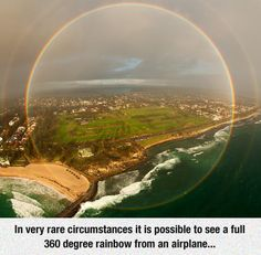 A rare 360-degree rainbow.