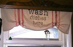 kitchen valenc, window, curtain idea, valanc, drop cloth, kitchen curtains, kitchen ideas