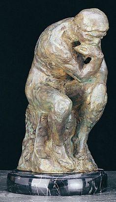 The Thinker Bronzed Metal Sculpture T.P.