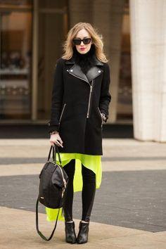 Eat.Sleep.Wear's Kimberly Pesch does black on black on green on black.