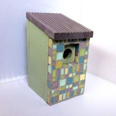 Heathland Mosaic Garden Bird Nest Box  on @Folksy