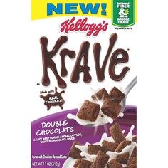 Kelloggs Krave Double Chocolate Cereal
