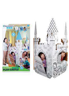 discoveri kid, papercraft castl, cardboard castl, kid cardboard