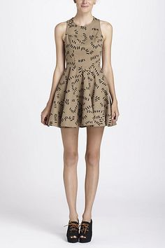 Oh my goodness, beautiful and such a fun fit -- Trails Skater Dress #anthropologie