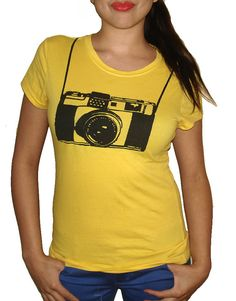 Ladies Photographer Camera Funny T Shirt camera funni, camera shirt, t shirts, photograph camera, cameras