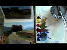 """The Red Tree"" Part 6 - Beginning Step by Step Acrylic Country Road Landscape Painting Demo - YouTube"
