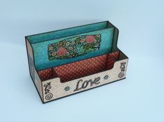A desk box using Couture by Roy Pakeman! #graphic45