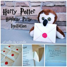 Harry Potter birthday invites