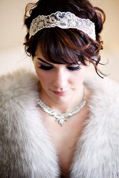 dramatic bridal accessories