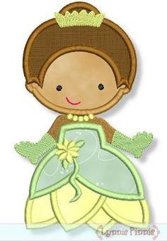 Embroidery Designs - Cutie Frog Princess Applique 4x4 5x7 6x10 - Welcome to Lynnie Pinnie.com! Instant download and free applique machine embroidery designs in PES, HUS, JEF, DST, EXP, VIP, XXX AND ART formats.