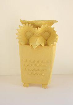 Egg carton owl