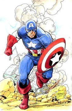 Captain America by Tom Grummett