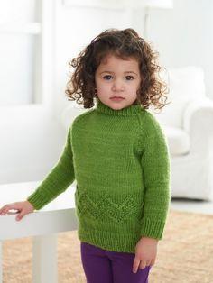 Kid's Chevron Band Pullover | Yarn | Free Knitting Patterns | Crochet Patterns | Yarnspirations