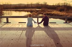 Alone with you love cute photography couples water outdoors country