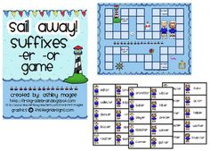 Free!! Suffixes, er & or!!! Game board, too!!!