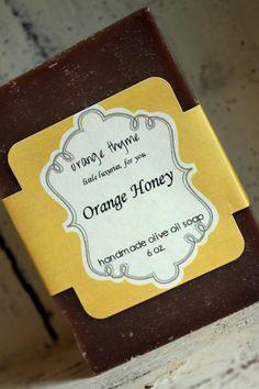 Orange Honey - Olive Oil Cold Process Soap