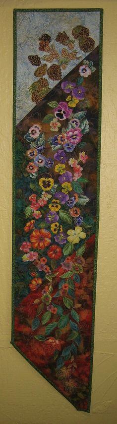 Four Seasons Art Quilt Batik Wall Hanging