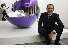 "Jeffrey ""Jeff"" Koons is an American artist known for his reproductions of banal objects—such as Balloon animals produced in stainless steel with mirror finish surfaces. He lives and works in New York City and his hometown York, Pennsylvania. jeff koons, artist jeff"