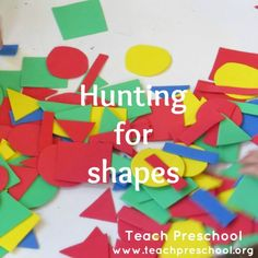 Hunting for shapes by Teach Preschool teaching shapes preschool, teach preschool