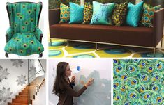 Peacock stencil decor! http://blog.cuttingedgestencils.com/?p=2488=true#