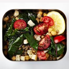 Lentil and Chickpeas with Greens Recipe - Bon Appéit