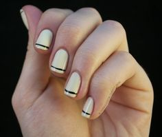 Nailed It - nude and small black strip - very classy