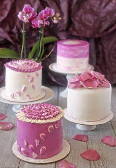 Radiant Orchid Mini Cakes - SugarHero!