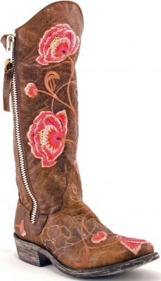 Embroidered boots for the hippy in me