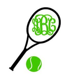 Tennis  Monogram Decal - Car Decal on Etsy, $4.00
